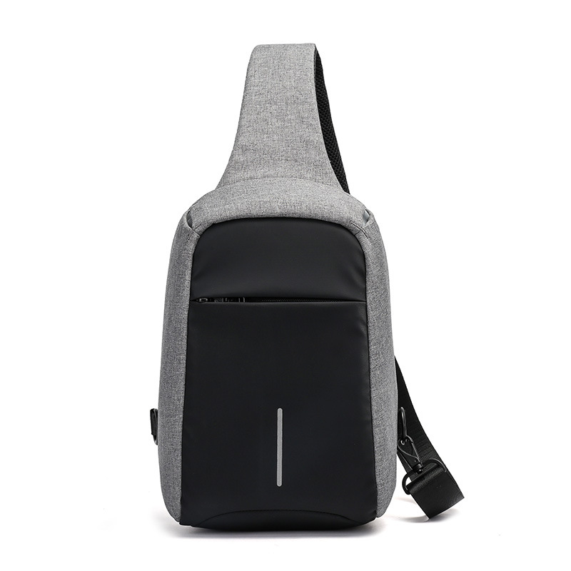 Tide men's shoulder bag chest pack (Gray)