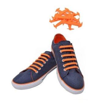 Tie Silicone Shoe Lace (Orange)