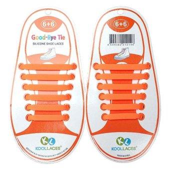 Tie Silicone Shoe Lace (Orange) - picture 2