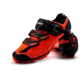 Tiebao MTB Mountain Cycling Shoes For Shimano SPD System BicycleBike Shoes Black Orange - intl