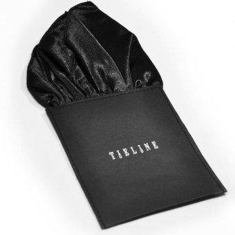Tieline 4 Point Pocket Square with Board Insert (Black)