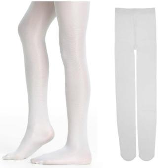 Tights Pantyhose Stockings Soft Stretch Velvet Ballet Dance Socks(White) 51g
