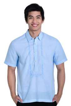 Titan Barong of Lumban Linen Short Sleeve Half Open Formal