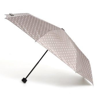 Tokio 3Folding Windproof Umbrella With Print Design (Gray Dotted)