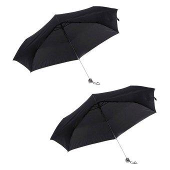 Tokio Slim Type Windproof Umbrella Set of 2 (Black)