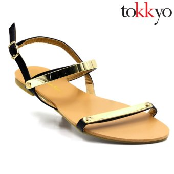 Tokkyo AZ-336/QX-6 Lauren Flat Sandals (Black) Price Philippines