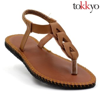 Tokkyo Shoes Women's Ember Flat Sandals (Brown)