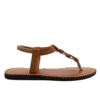 Tokkyo Shoes Women's Ember Flat Sandals (Brown) - 5