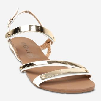 Tokkyo Shoes Women's Holly Flat Sandals (White)