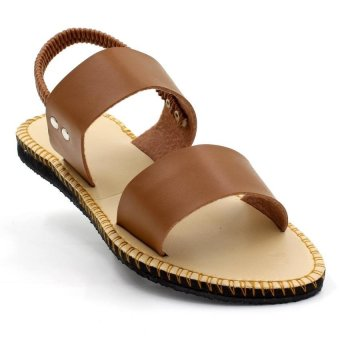 Tokkyo Shoes Women's Lucky Flat Sandals (Brown) - 2