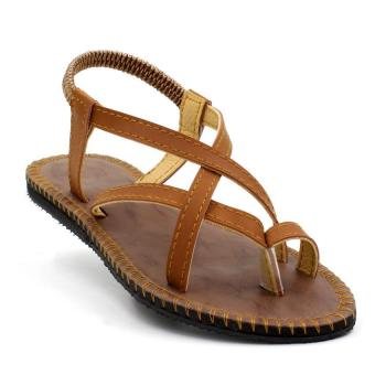 Tokkyo Shoes Women's Carol Flat Sandals (Brown)
