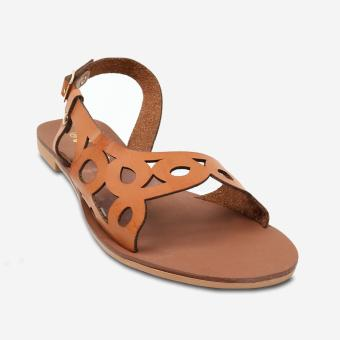 Tokkyo Shoes Women's Coral Flat Sandals (Brown)