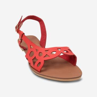 Tokkyo Shoes Women's Coral Flat Sandals (Red)