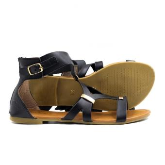 Tokkyo Shoes Women's Hazel D-11 Flat Gladiator Sandals (Black) - 3
