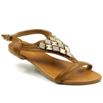 Tokkyo Shoes Women's Ida Flat Sandals (Silver)