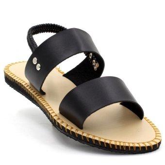 Tokkyo Shoes Women's Lucky Flat Sandals (Black) - 2