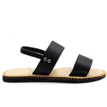 Tokkyo Shoes Women's Lucky Flat Sandals (Black) - 4
