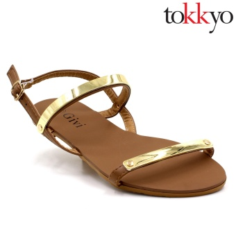 Tokkyo Women's AZ-336 Lauren Flat Sandals (Brown) Price Philippines