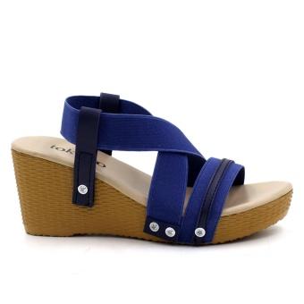 Tokkyo Women's Hyeon Wedge Sandals (Blue) - 2