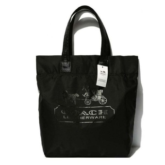Top Rate Coach Nylon Tote Bag (Black) - intl