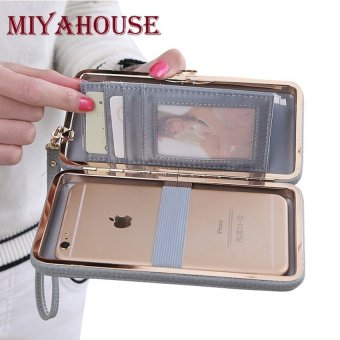 Top rate Miyahouse Bow Wallet Women Long Purse Hasp Design Female Cell Phone Wallets PU Leather Card Holder Purse For Ladies Clutches - intl