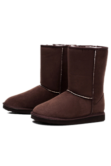 Toprank Classic Tall Waterproof Genuine Suede Leather Snow BootsWarm Winter Boots Shoes For Women Ankle Boots