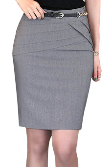 Toprank Women's Career Skirts Formal Office Ladies Clothing SlimSkirt Work Skirts ( Grey ) Price Philippines