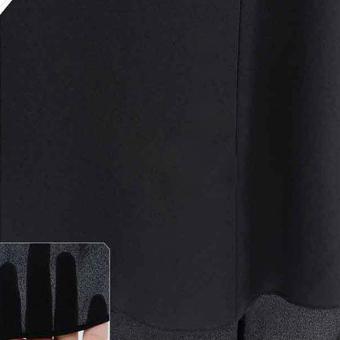 Tops Doll Lapel Blouse Shirt (Black) - picture 2