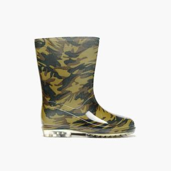 Tough Kids Boys Camouflage Rain Boots (Green)