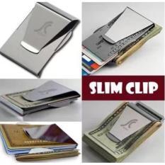 TP Newest Slim Steel Money Clip Double Sided Credit Card HolderWallet - intl