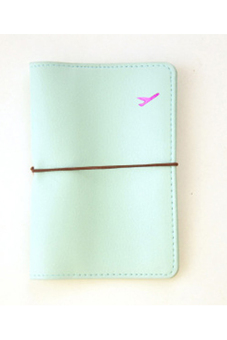 Travel Leather Passport Holder Blue - picture 2