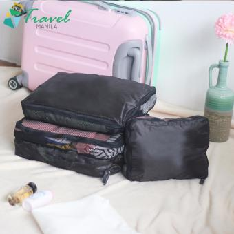 Travel Manila 3 in 1 Packing Cubes Pouch Bag (Black)