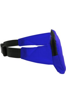 Travel Pouch Hidden Compact Security Money Waist Belt Bag (Blue)