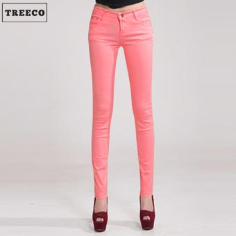 Treeco Women's Candy Skinny Jeans (Mid Pink)