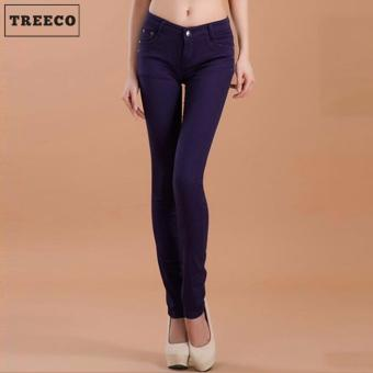 Treeco Women's Candy Skinny Jeans (Violet)
