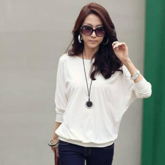 Trendy Long Sleeve T-Shirt (White) Price Philippines