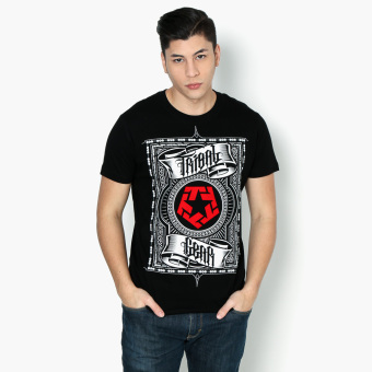 Tribal Gear Scroll Teens Graphic Tee (Black)