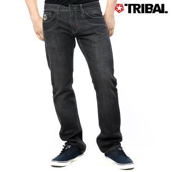 TRIBAL Men's Low & Lean Denim Jeans Used Black