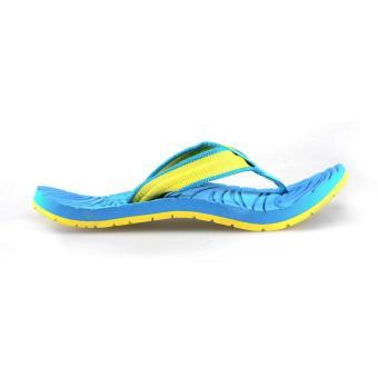 Image Detail Tribu Outdoor Sandals Yakan (Aqua Blue/Yellow) Full