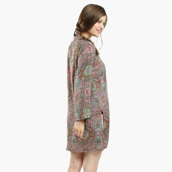 Tropiko By Kultura Ladies Paisley Tunic (Maroon)