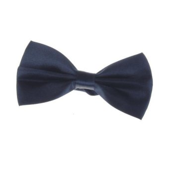 Tuxedo Bow Tie Bowtie Necktie for Men - Navy Blue - intl
