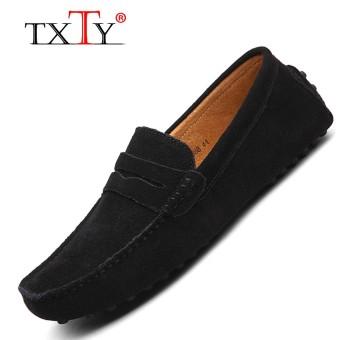 TXTY Men's Light Slip-On Flats Shoes Man Casual Boat Peas shoe Men's Male Shoe Size 38-49 9Colorblack - intl