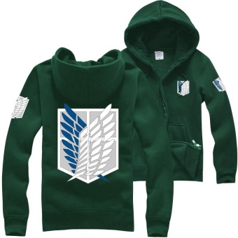 Ufosuit Attack on Titan Long Sleeve Anime Jacket Sweater HoodieGreen - intl Price Philippines