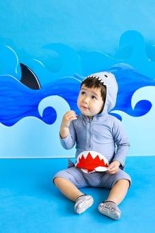 Ufosuit Kids Animal Swimsuit Unisex Onesie Swimwear Jumpsuit SharkCosplay Costume - intl - 2