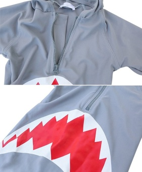 Ufosuit Kids Animal Swimsuit Unisex Onesie Swimwear Jumpsuit SharkCosplay Costume - intl - 5