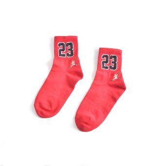 Ulzzang college style couple's socks cotton women's socks (Hong 23)