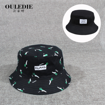 Ulzzang college style female student double-sided sun hat fisherman hat (Double-sided radish bucket hat)