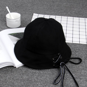 Ulzzang cool female long strap bucket Hat hat