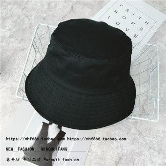 Ulzzang Japanese-style solid color light board men and women pots hat fisherman hat