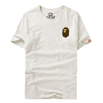 Ulzzang Japanese-style style Teenager student ape head T-shirt (Gray clothes)